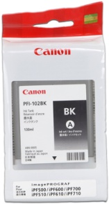 CANON INK PFI-102 BLACK iPF-500, 600, 700