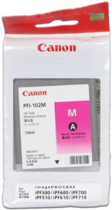 CANON INK PFI-102 MAGENTA iPF-500, 600, 700 - CF0897B001