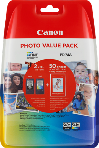 Canon PG-540XL / CL-541XL + 50x GP-501