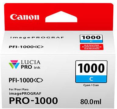 Canon PFI-1000 C, azurový - 0547C001