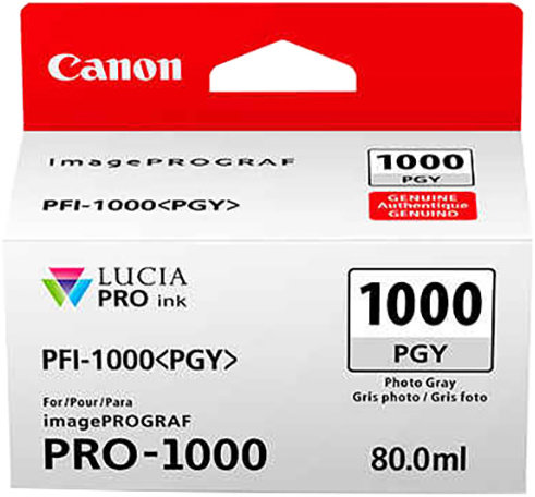 Canon PFI-1000 PGY, photo šedý - 0553C001