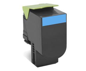 Lexmark 802C azurová tonerová kazeta,80C20C0