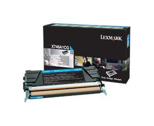 Lexmark X746,X748 azurová toner.kazeta,X746A1CG