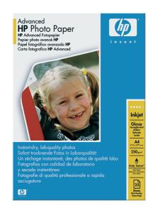 HP Advenced Glossy Photo Paper, A4, 25ks, 250g/m2 - Q5456A