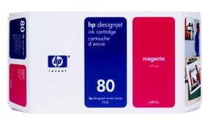 HP no 80 - červená ink. kazeta velká, C4847A