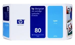 HP no 80 - modrá ink. kazeta malá, C4872A