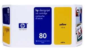 HP no 80 - žlutá ink. kazeta malá, C4873A