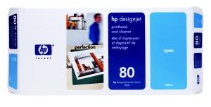 HP no 80 - modrá tisk. a čistící hlava, C4821A - C4821A