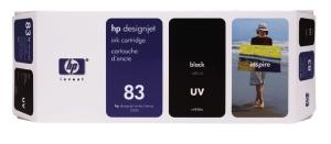 HP no. 83 - černá ink. kazeta, UV, C4940A