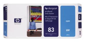 HP no 83 - modrá tisk. a čistící hlava, UV, C4961A