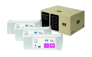 HP no 83 - červený UV ink - 3 pack, C5074A