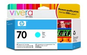 HP no 70 azurová inkoustová kazeta, C9452A