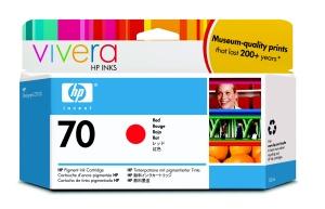 HP no 70 červená inkoustová kazeta, C9456A