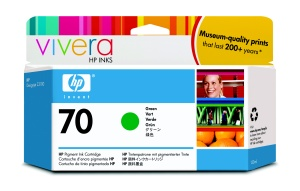 HP no 70 zelená inkoustová kazeta, C9457A