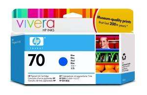 HP no 70 modrá inkoustová kazeta, C9458A