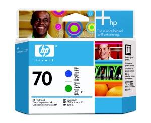 HP no 70 modrá a zelená tisková hlava, C9408A