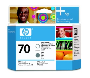 HP no 70 gloss enhancer a šedá tisk hlava, C9410A