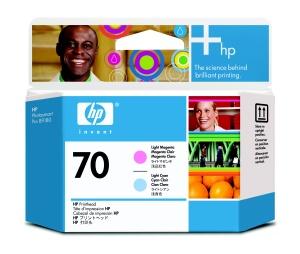 HP no 70 sv. azurová a sv. purpurová tisk hlava