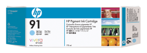 HP no 91 - sv. azurová ink. kazeta, C9470A