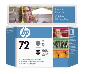 HP no 72 - šedá a foto černá tisk. hlava, C9380A