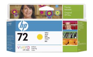 HP no 72 - žlutá ink. kazeta, C9373A