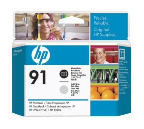 HP no 91- foto černá a sv.šedá tisk. hlava, C9463A - C9463A