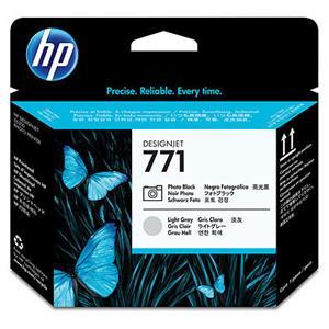 HP no 771 - foto černá/sv.šedá tisk.hlava, CE020A