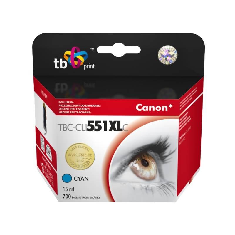 Ink. kazeta TB kompat. s Canon CLI-551XL CY Cyan