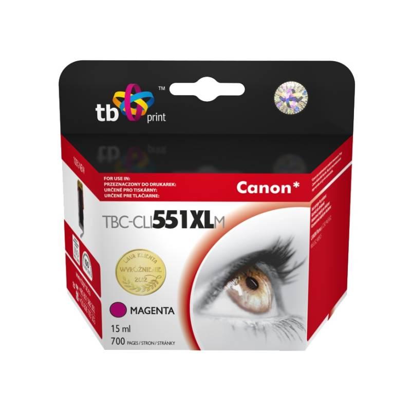 Ink. kazeta TB kompat. s Canon CLI-551XL MG Magent