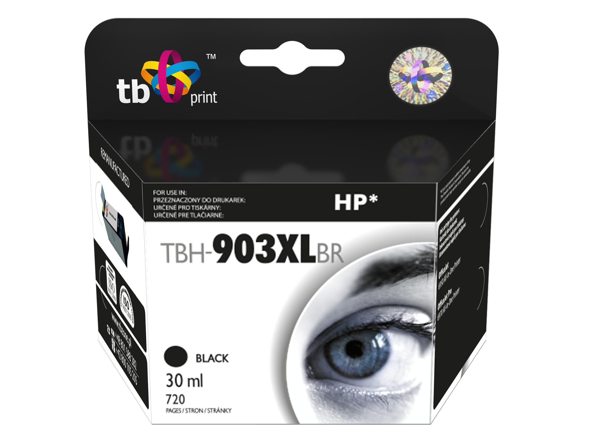 Ink. kazeta TB kompat. s HP OJ 6950, Black, ref