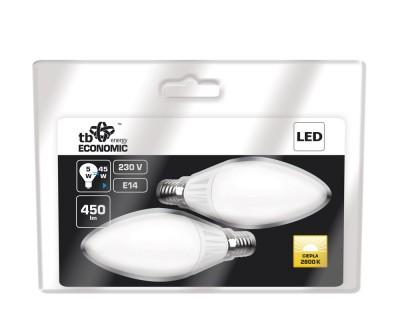 TB Energy LED žárovka - E14 - 230V - 5W - teplá bílá