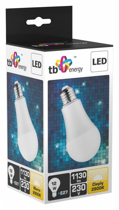 TB Energy LED žárovka - E27 - 230V - 12W - 1130L - teplá bílá