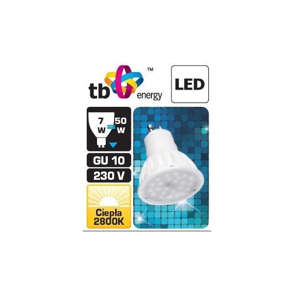 TB Energy LED žárovka - GU10 - 230V - 7W - 575L - teplá bílá