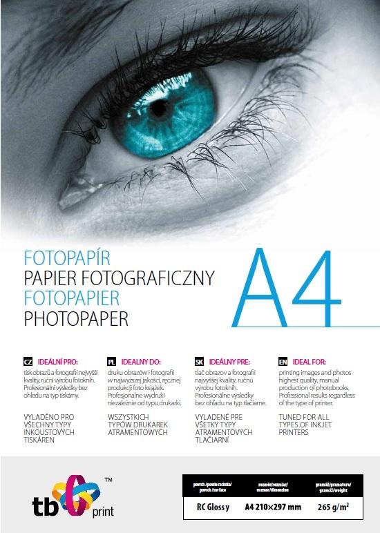 TB Photo Paper Glossy 265g A4 25 ks