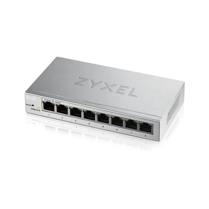 ZyXEL GS1200-8, 8 Port Gigabit webmanaged Switch - GS1200-8-EU0101F