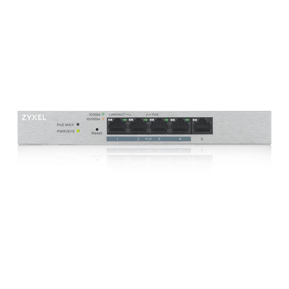 ZyXEL 5xGb 4xPOE fanless desktop switch GS1200-5HP V2 - GS1200-5HPV2-EU0101F