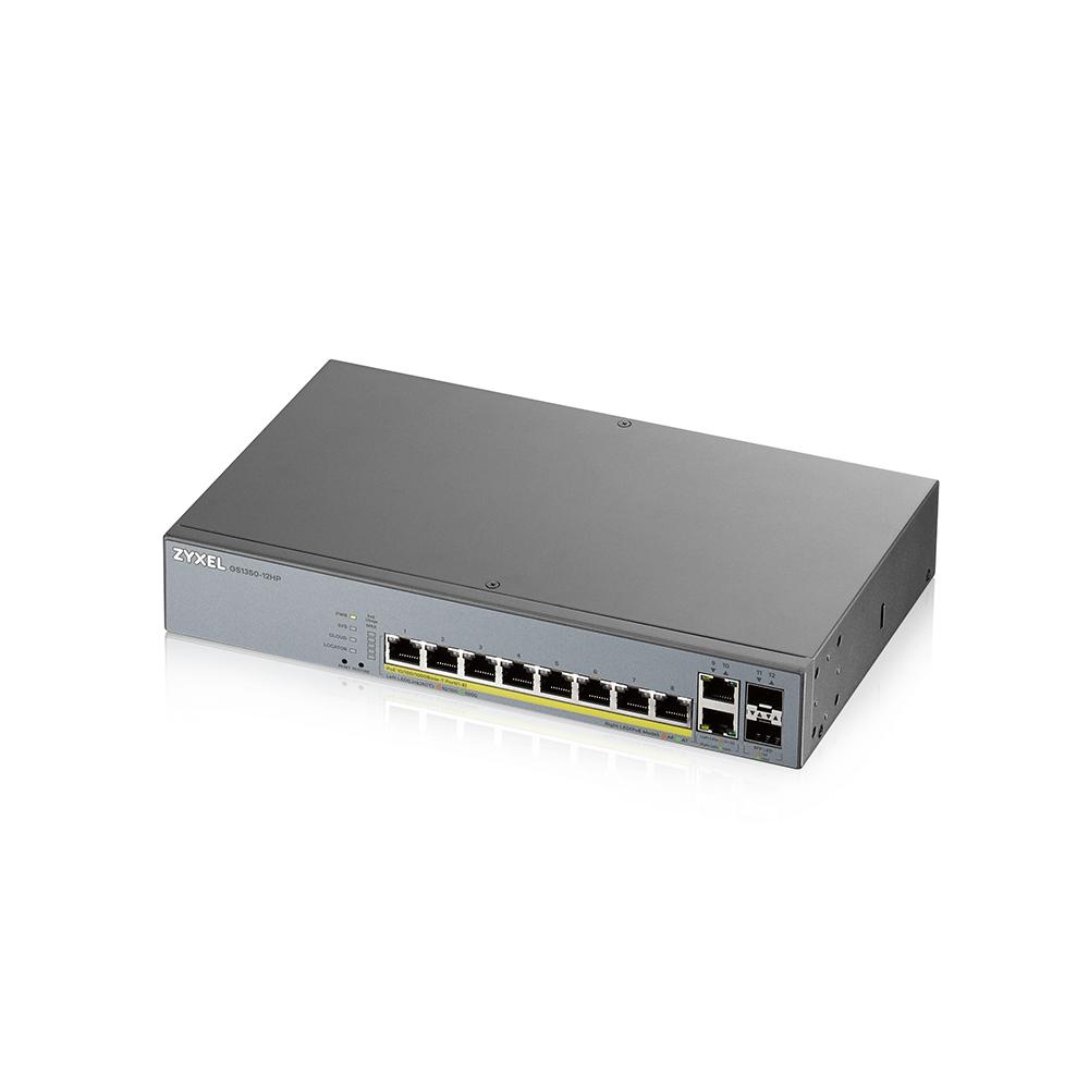 ZYXEL GS1350-12HP 12 Port manged CCTV PoE witch, 130W - GS1350-12HP-EU0101F