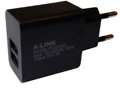 A-link Charger2xUSB power adapter, PC2U2AS