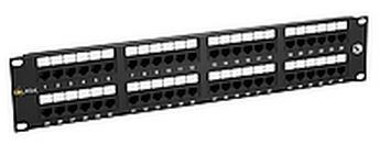 19'' Patch panel Solarix 48 x RJ45 CAT5E UTP černý