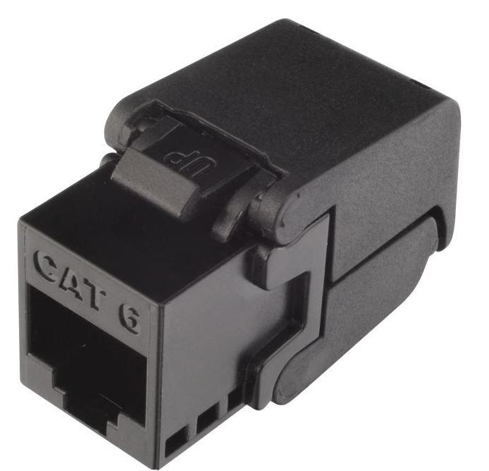Keystone Solarix CAT6 UTP RJ45 černý samořezný - SXKJ-6-UTP-BK-SA