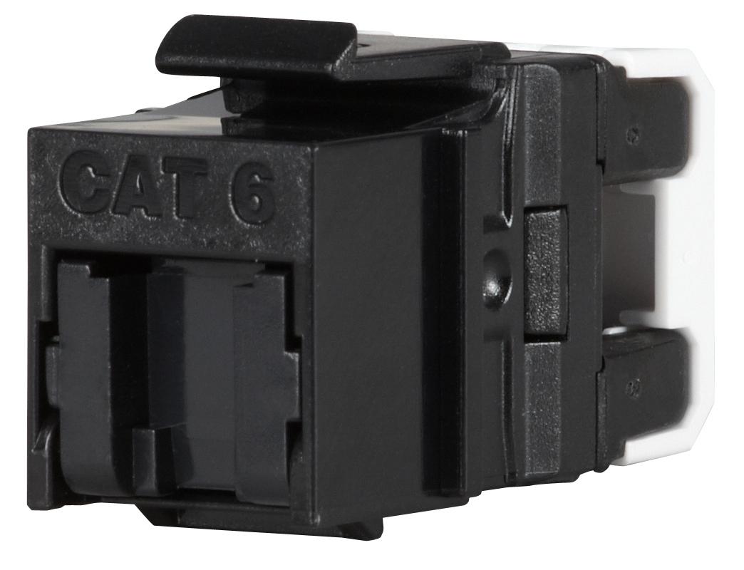 Keystone Solarix CAT6 UTP RJ45 černý pro kleště - SXKJ-6-UTP-BK-NA
