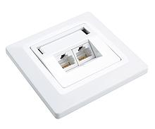Zásuvka Solarix CAT6 UTP 2 x RJ45 pod omítku bílá - SX9-2-6-UTP-WH