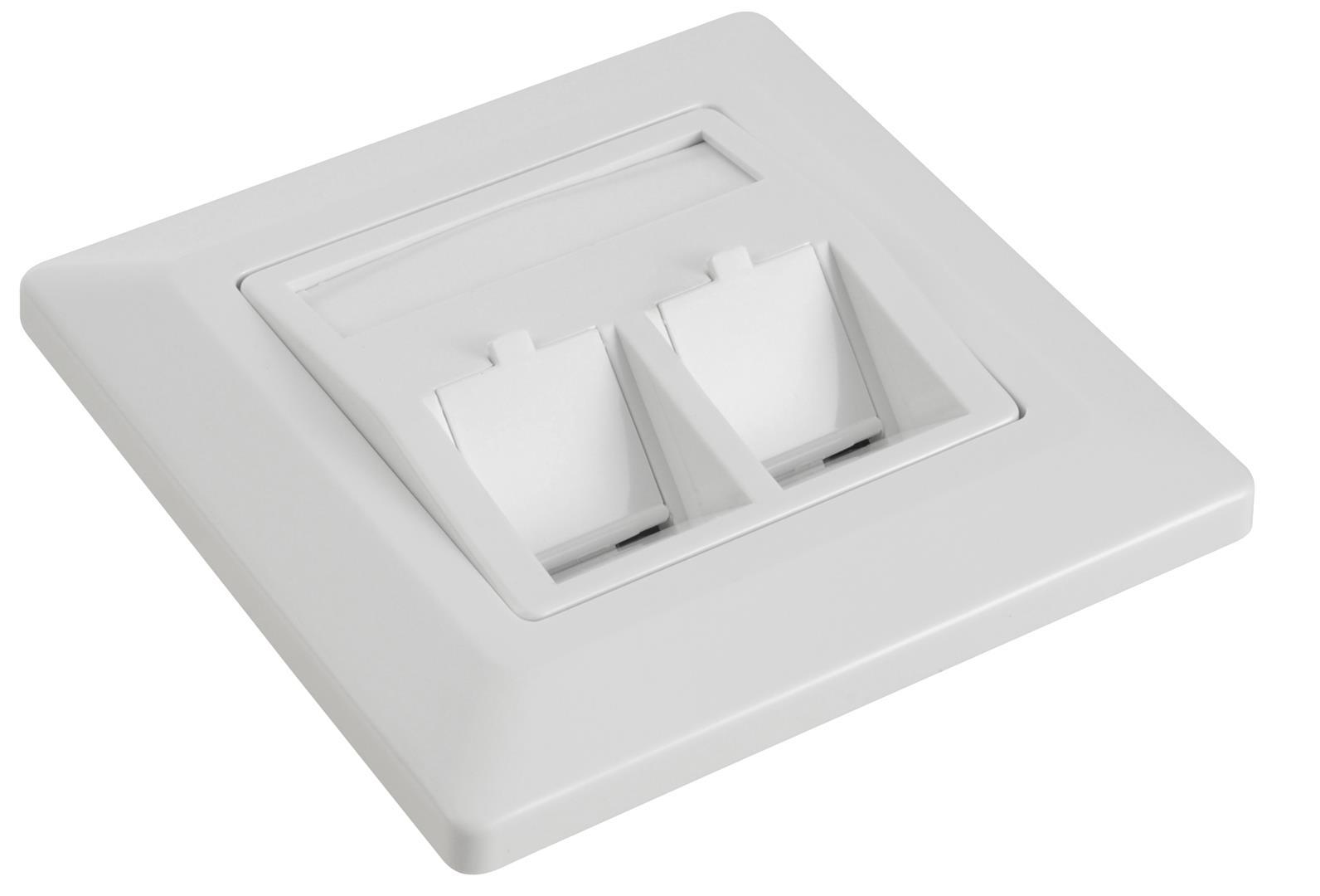 Zásuvka modulární Solarix pro 2 keystony - SX9-2-0-WH