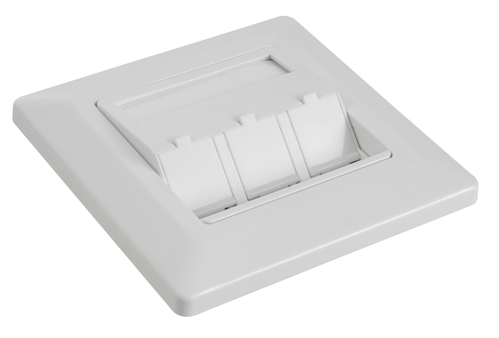 Zásuvka modulární Solarix pro 3 keystony - SX9-3-0-WH