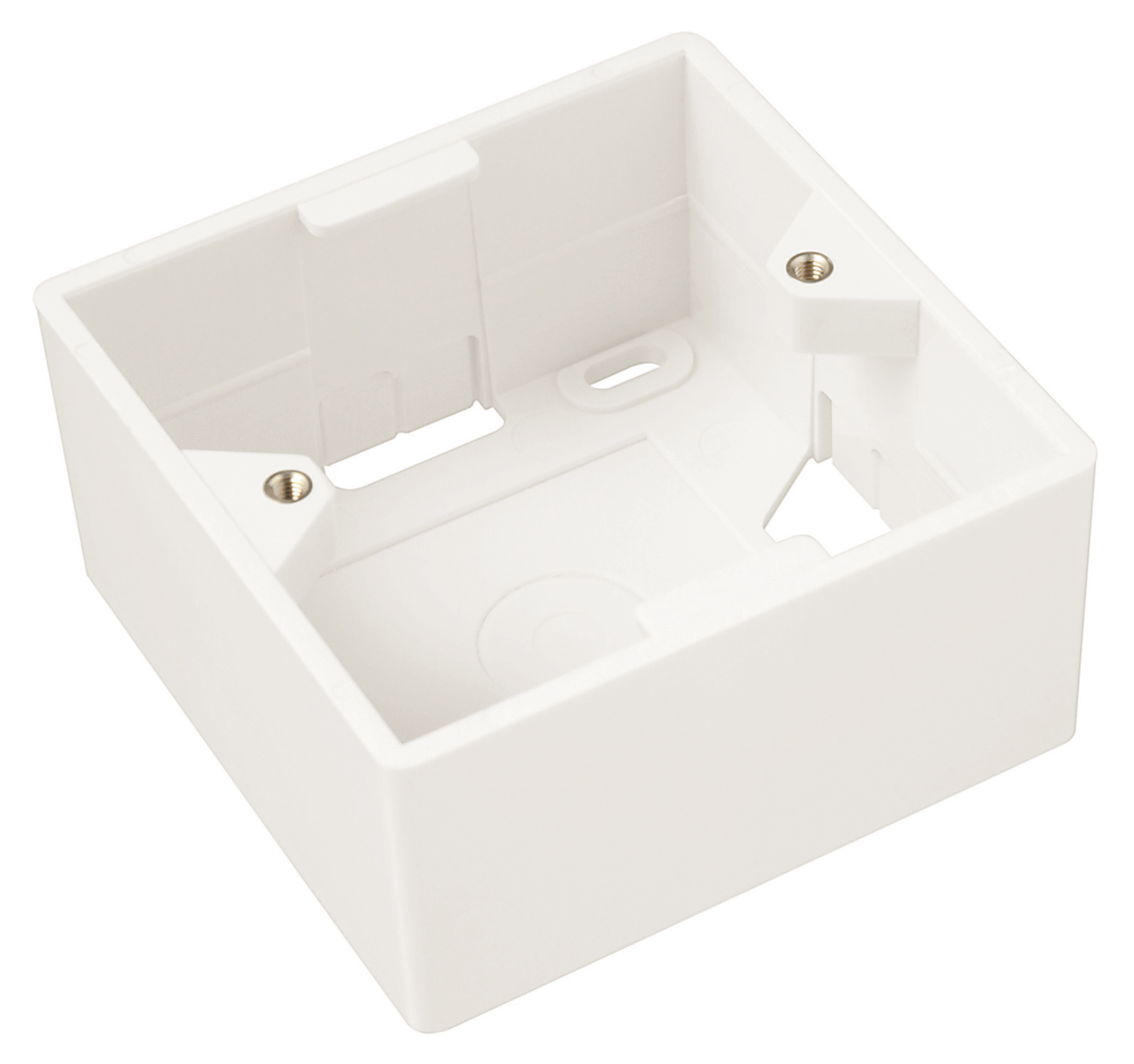 Box na omítku pro zásuvku SX9 bílý 80 x 80 x 32mm