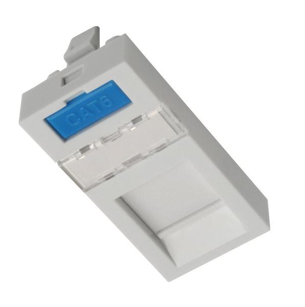 Modul French style Solarix 22,5 x 45mm pro 1 keyst - SXF-M-1-22,5-WH-P