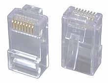 Konektor RJ45 CAT5E UTP 8p8c pro licnu 100ks bal.