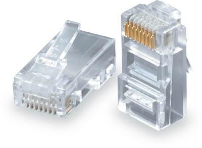 Konektor RJ45 CAT5E UTP 8p8c pro drát 100ks bal. - KRJ45/5SLD