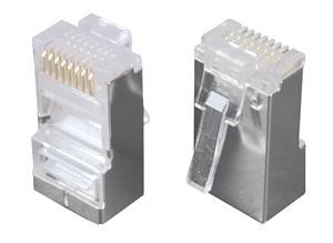 Konektor 8p8c CAT5E neskládaný,STP,drát (100ks) - KRJS45/5SLD