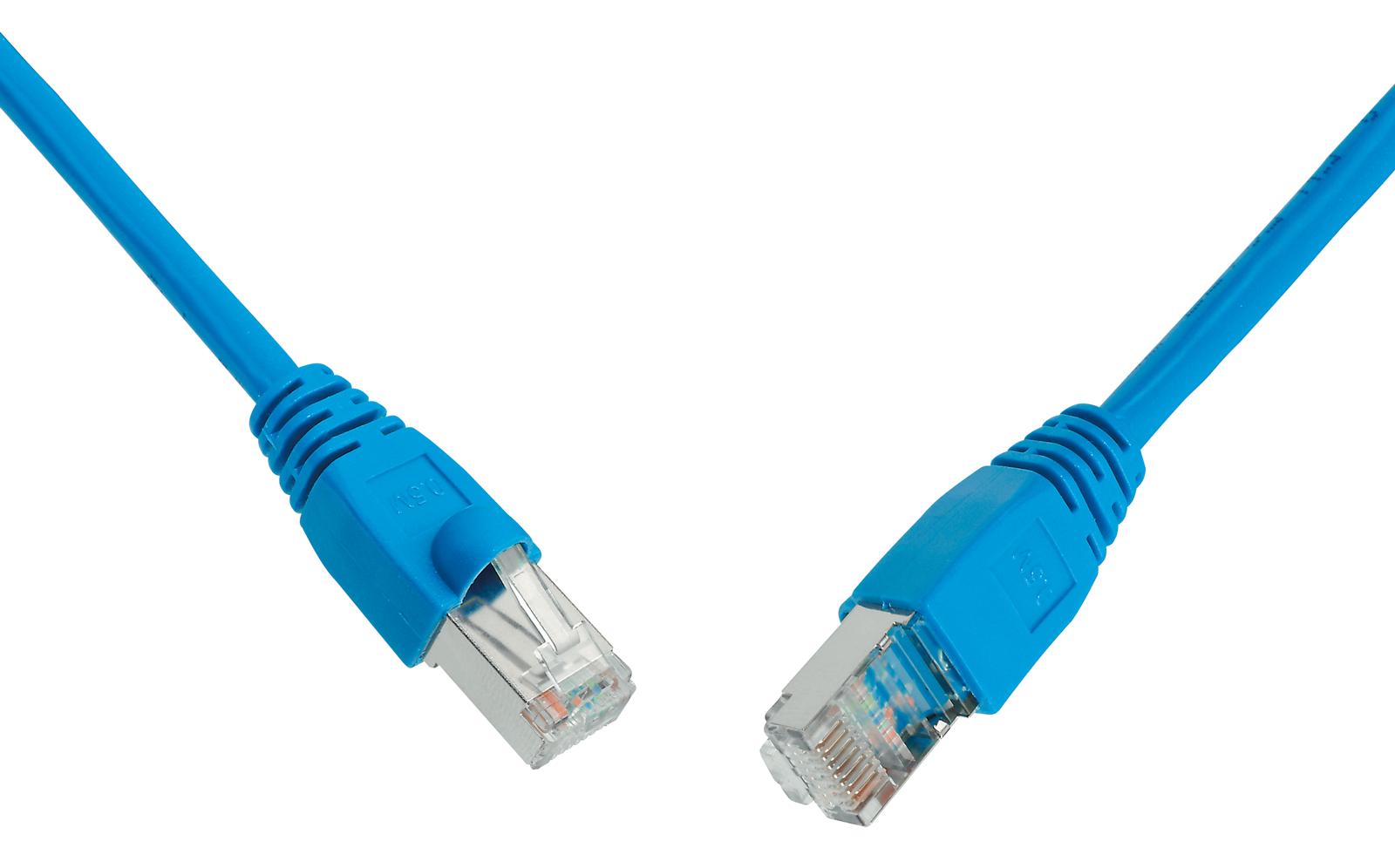 SOLARIX patch kabel CAT6 UTP PVC 1m modrý snag-proof - C6-114BU-1MB